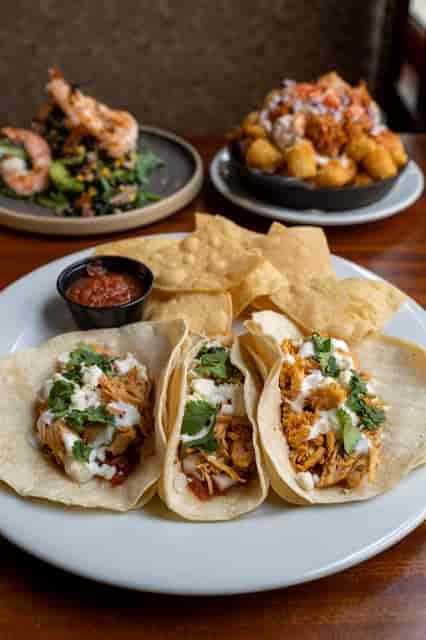 tacos, loaded tots & stuffed avo