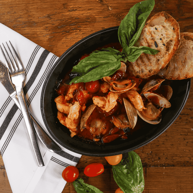 Shrimp and Clam Diavolo