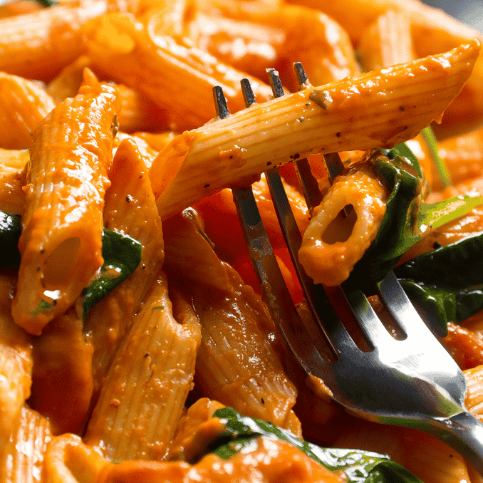Penne Pasta with Creamy Vodka Sauce