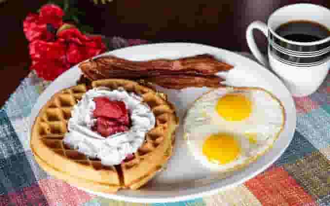 Belgian Waffle Breakfast*