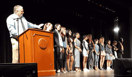 2019 SA Elks Awards Ceremony for the Wally Dietrich Awards to Schools in SA, Irvine, Tustin