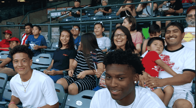 Families enjoying the Game 2018