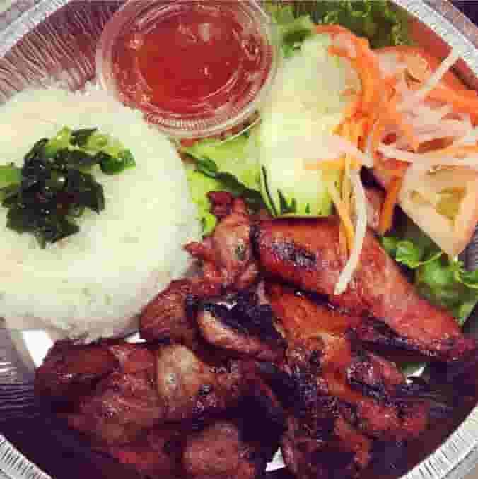 BBQ Chicken Rice Dish