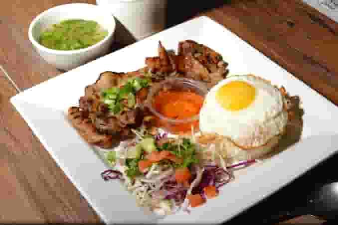 BBQ Pork Rice Dish