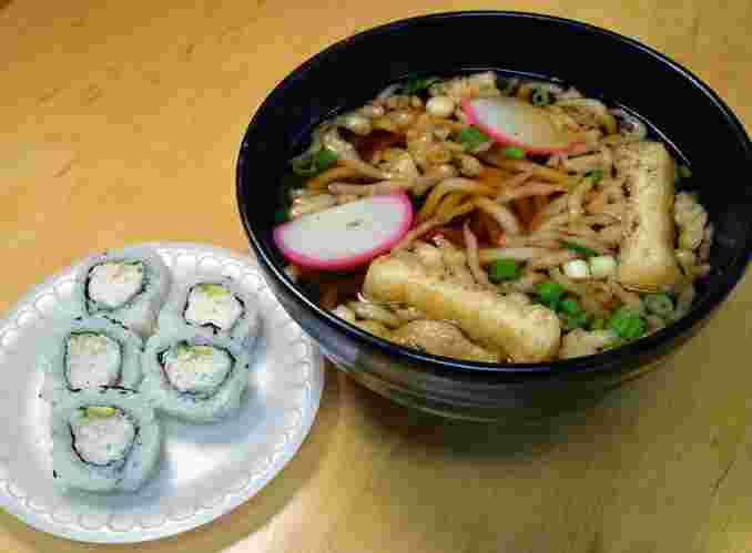 Udon & California Roll