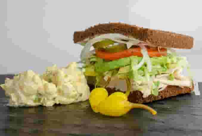 1/2 SANDWICH ON SQUAW, RYE OR SOURDOUGH BREAD
