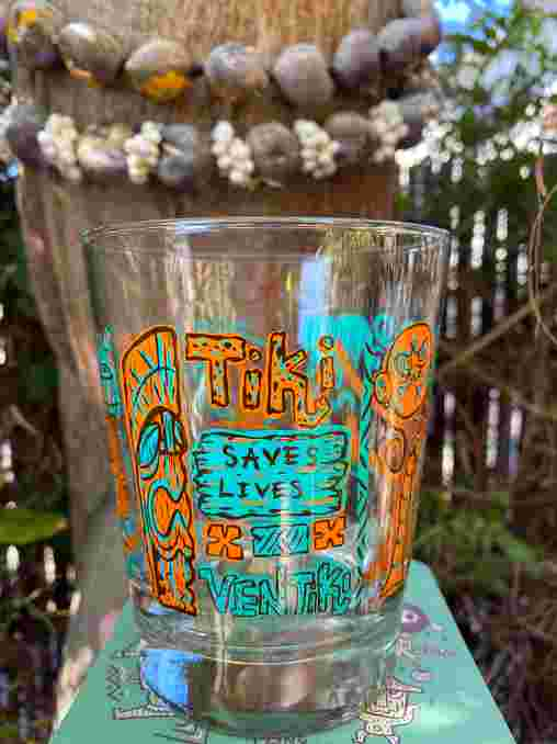 Tiki Saves Lives Tumbler (orange)