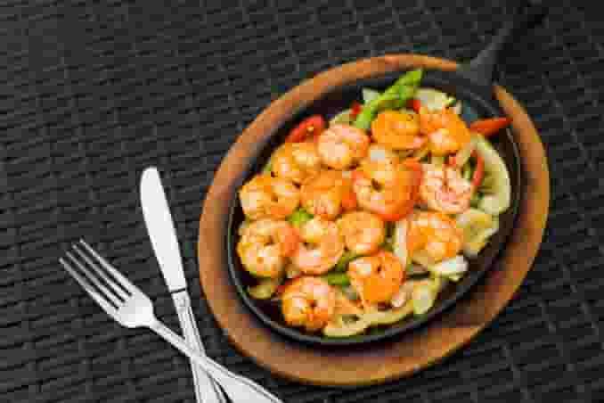Sauteed Shrimp Fajitas