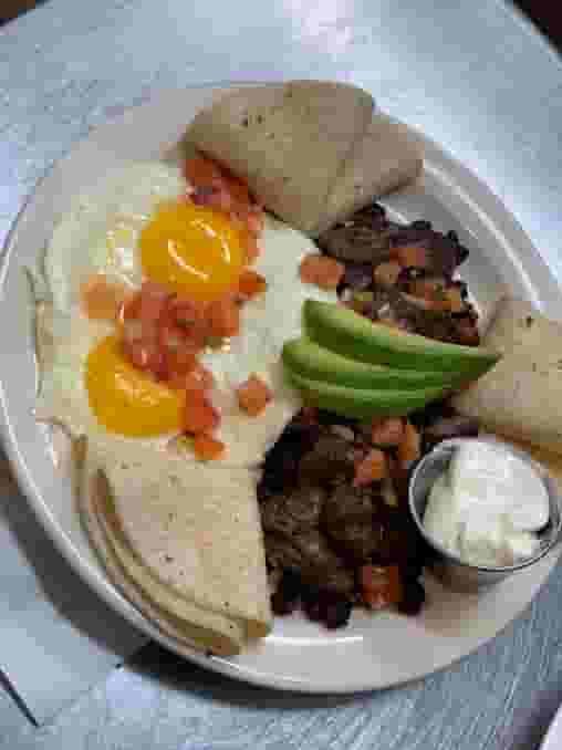 Huevos Rancheros and Carne Asada