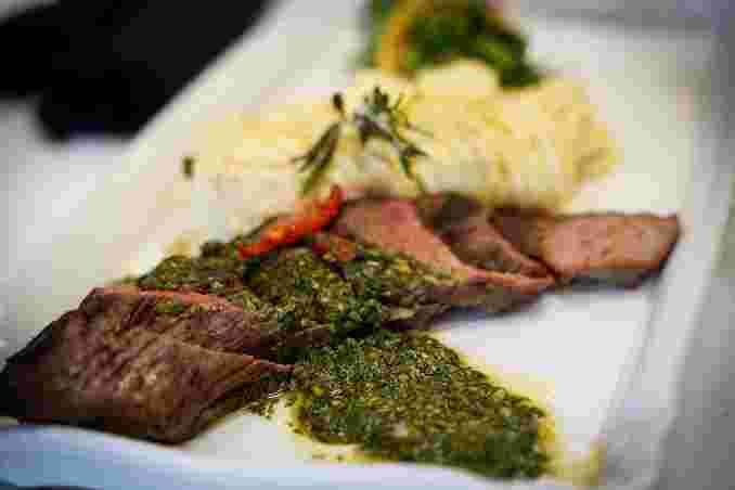 Grilled Steak with Chimichurri Sauce