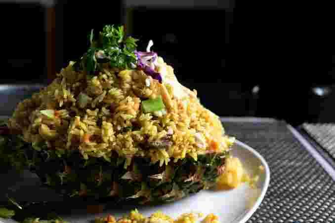 Pineapple Fried Rice Meat Combination