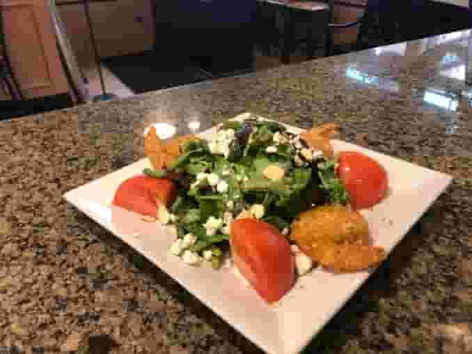 Panko Shrimp Salad