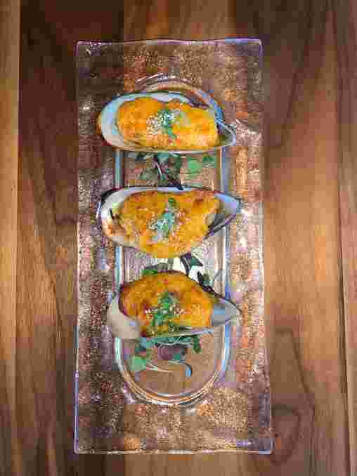 Baked Green Mussels (4pc)