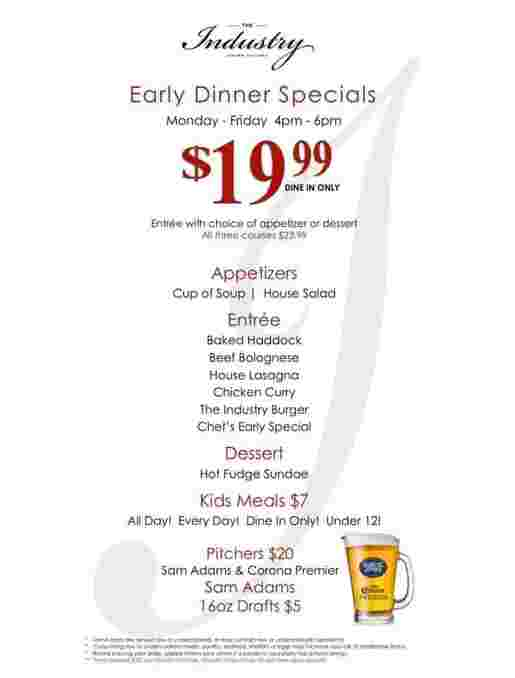 Chef's Early Specials