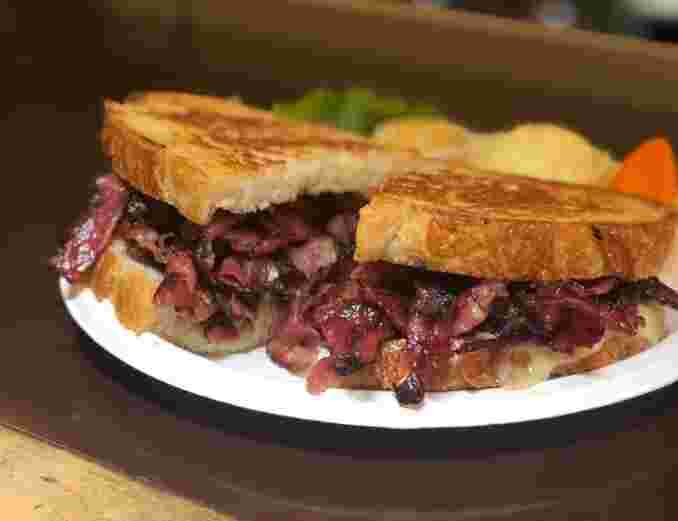 Grilled Pastrami and Swiss