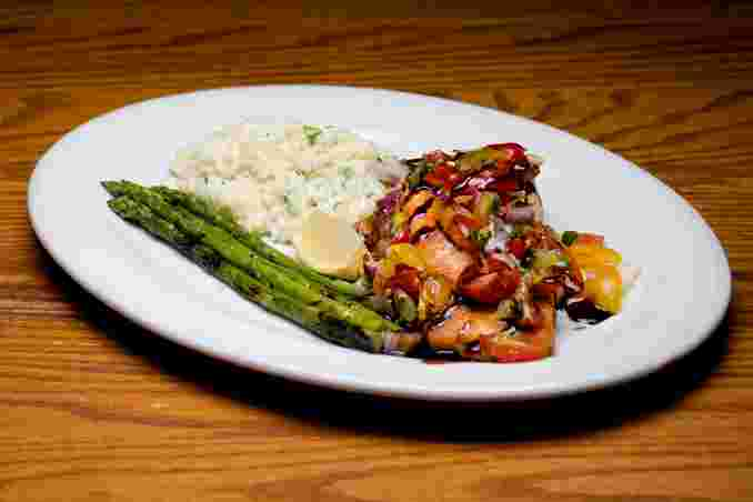 Grilled Salmon Balsamica