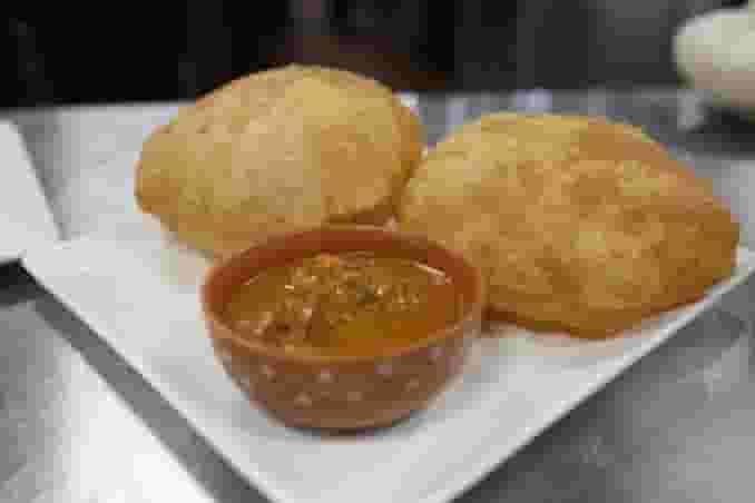 Poori, Potato Bhaji and Channa Curry
