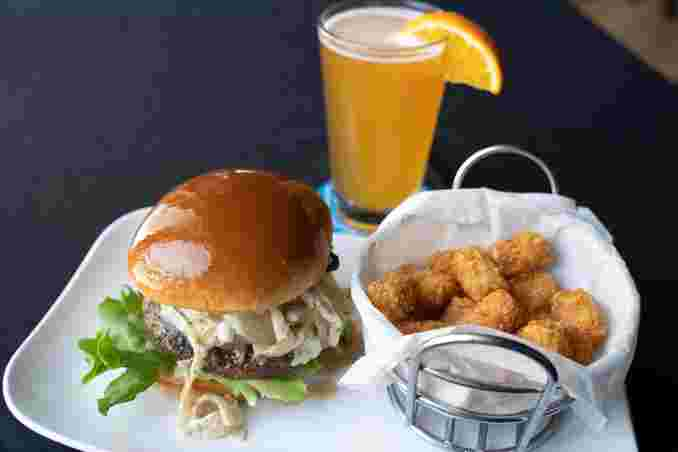 Kobe Burger and Cocktail for Happy Hour