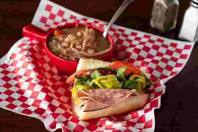 1/2 Cold or Hot Sub and Soup Special