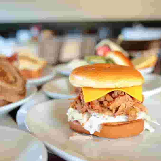 Hot Pulled Pork Sandwich