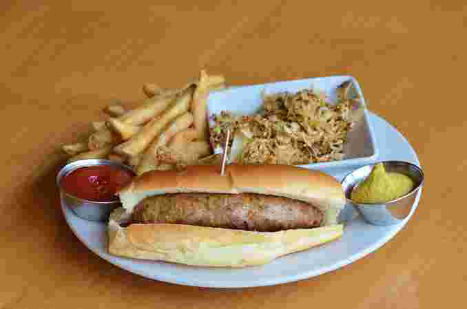 Beer Braised Bratwurst