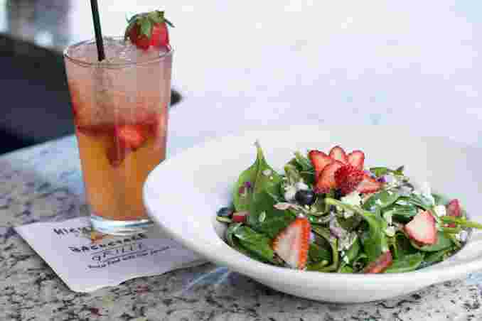Strawberry n Blueberry Spinach Salad