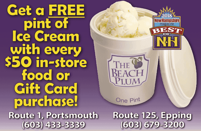 It's Back! For every $50 spent, you receive a free pint of ice cream! Pick your favorite from 78 flavors! Get yours now in any of our restaurants!