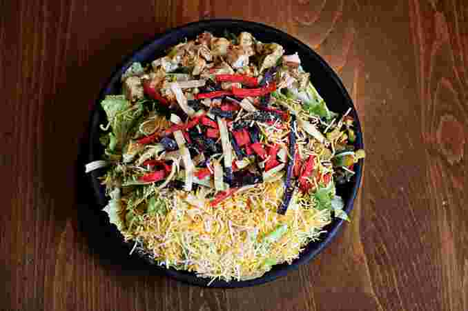 Beef or Chicken Fajita Salad