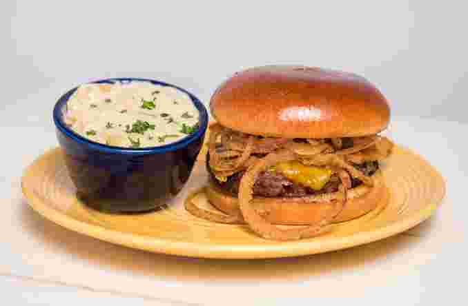 BBQ Haystack Cheeseburger
