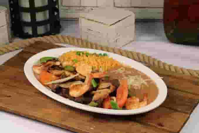 Steak, Chicken and Shrimp Fajitas