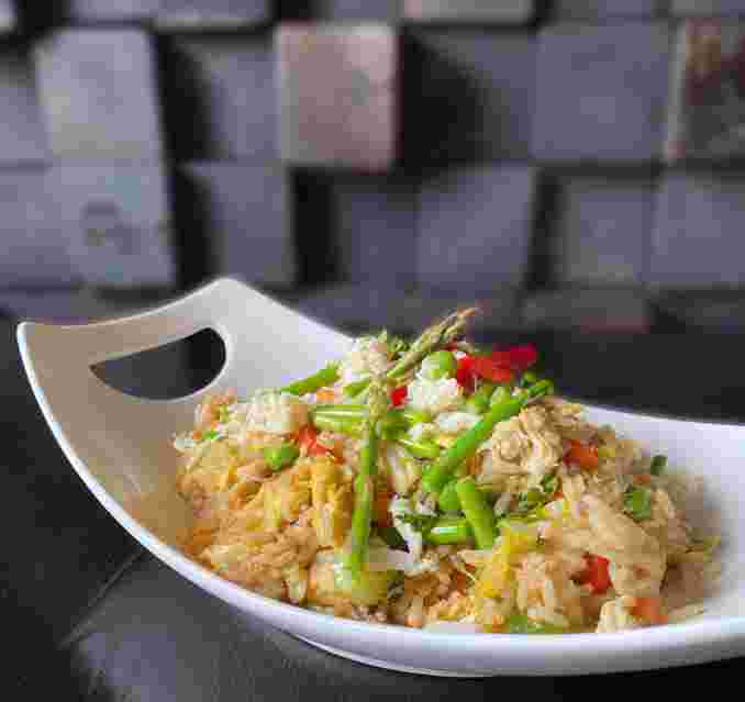 Crab Aspargus Fried Rice