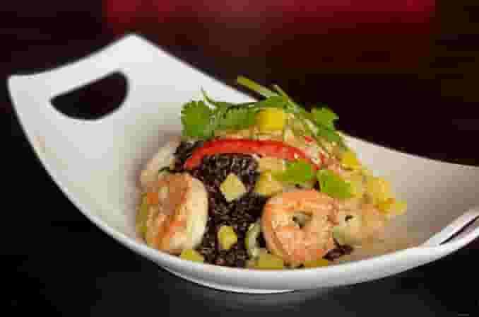Pineapple Shrimp / Black Rice