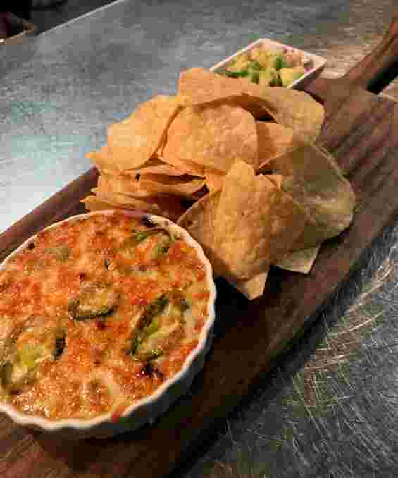 Jalapeno Queso Dip with Guacamole