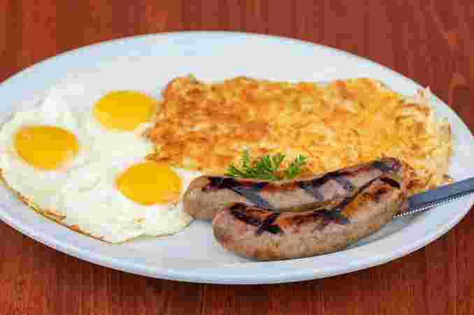 Grandma Corky's Pork Apple Sausage & Eggs