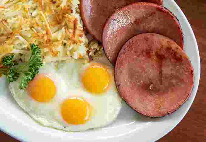 Fried Bologna & Eggs