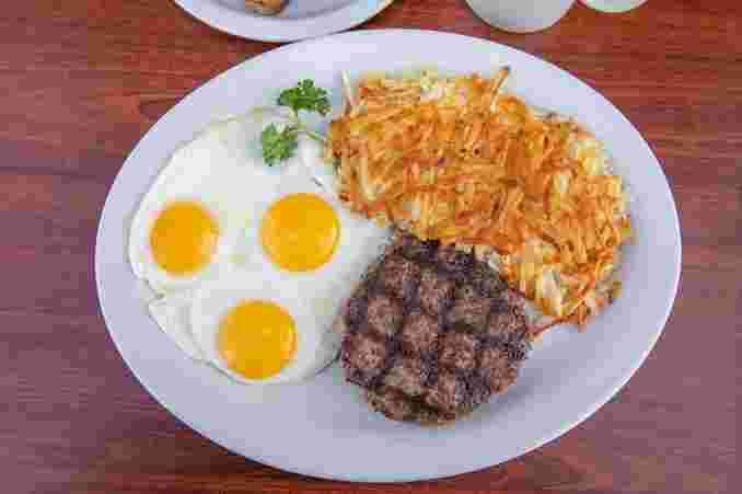 Hamburger Steak & Eggs