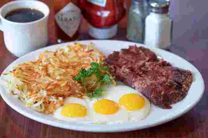 Homemade Corned Beef Hash & Eggs