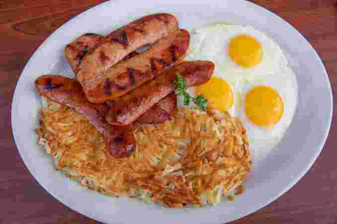 Polish Sausage & Eggs