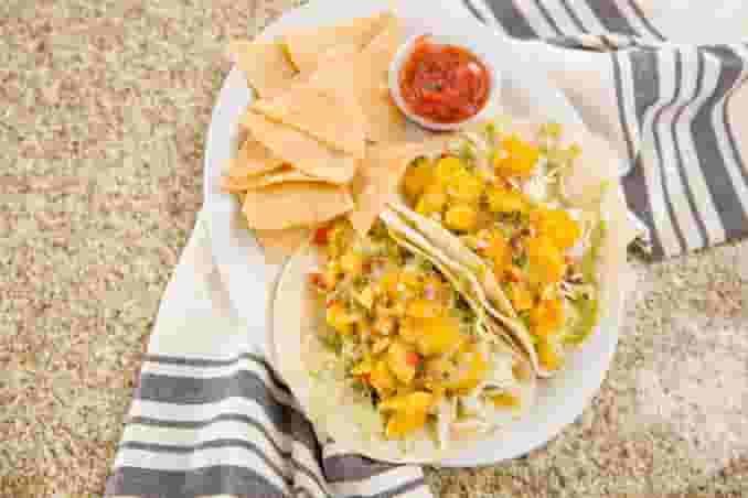Mango Cod Tacos