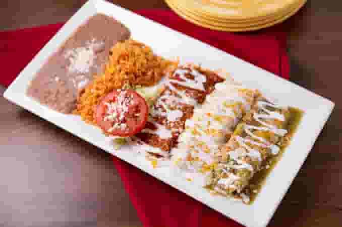 Mexican Flag Enchiladas Combo