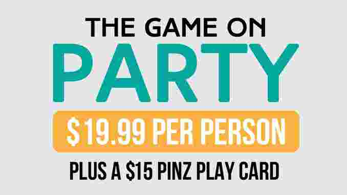 The Game On Party Package