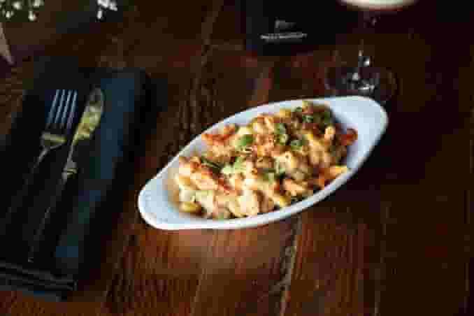 Poached Shrimp Mac & Cheese