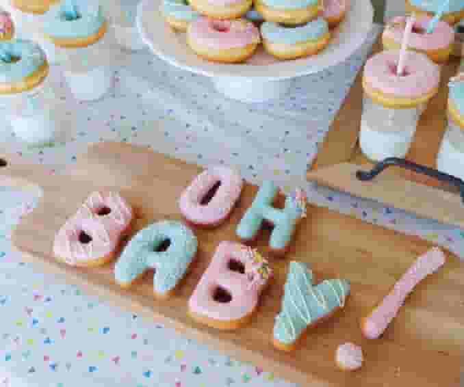Custom Letter Donuts