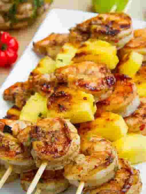 Shrimp & Pineapple Skewers