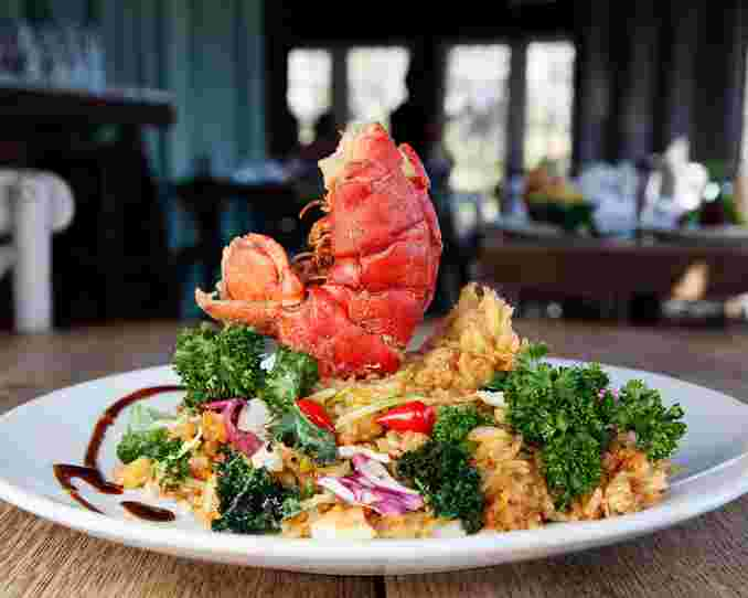 lobster tail entree