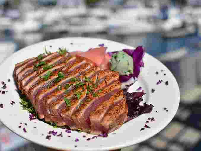 Seared Ahi with Cajun spices