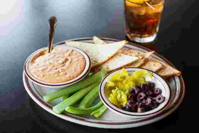 Roasted Red Pepper Hummus Plate