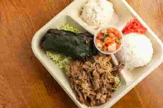 Lau Lau, Kalua Pork, Lomi Salmon