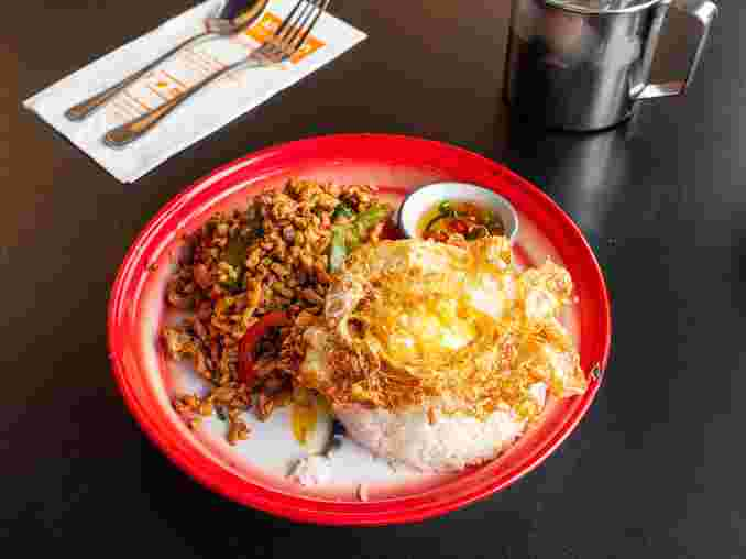 3. Khao San Holy Basil Chicken