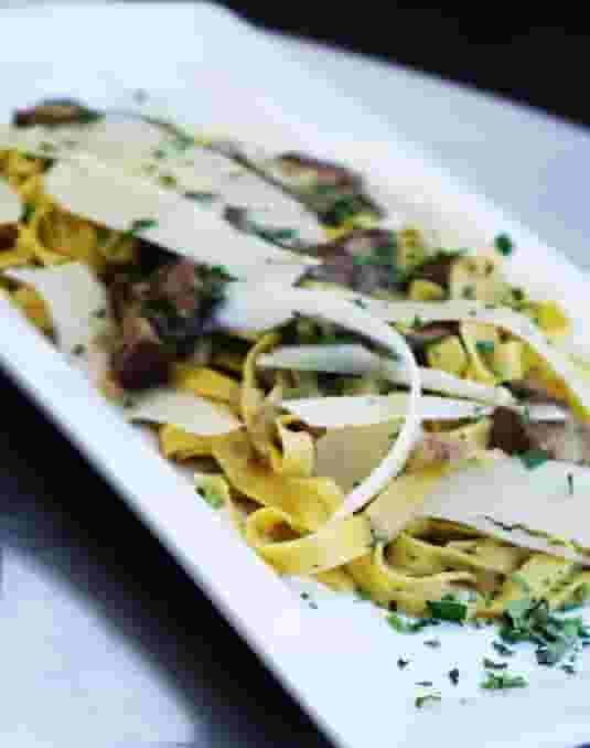 Porcini soft Mushrooms, Parmesan, Truffle olive oil